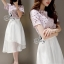 Sevy Two Pieces Of Hallow Flounce' Blouse With Chiffon Layer Skirt Sets thumbnail 1