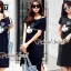 Seoul Secret Say's... We Love Mickey Black Dress thumbnail 2