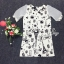 Sevy Spring Korean Printed Round Neck Org Sleeve Mini Dress thumbnail 8