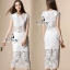 Sevy Two Pieces Of Valentino Vintage Lace Crop Blouse With Midi Lace Skirt Suit Sets thumbnail 1