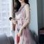 Seoul Secret Say's... Girly Bohe Style Stick&Print Outer Dress set thumbnail 5