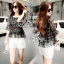 Sevy Two Pieces Of Bubble Chiffon Blouse With White Shorts Suit Sets thumbnail 4