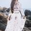 Seoul Secret Say's... Salmon Pink Blossom Summer Maxi Dress thumbnail 8