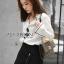 &#x1F380 Lady Ribbon's Made &#x1F380 Lady Grace Minimal Chic Monochrome White Shirt and Black Shorts Set thumbnail 2