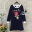 Korea Design By Lavida embroidered red roses sweater dress thumbnail 7