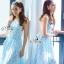Sevy PP Blue Printed Sleeveless Sexy Back Maxi Dress thumbnail 1