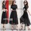 &#x1F380 Lady Ribbon's Made &#x1F380 Lady Leslie Modern Feminine Lace Shirt Maxi Dress thumbnail 4