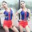Sevy Sport Girl Knit V-Nack Zipper Front T-Shirt thumbnail 1
