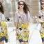 Seoul Secret Say's... Vintage Yellow Blossom Print Dress thumbnail 6