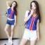 Sevy Sport Girl Knit V-Nack Zipper Front T-Shirt thumbnail 5