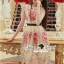 Seoul Secret Say's... Rosy Pink Red Blossom Stickly Netty Maxi Dress thumbnail 5