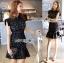 &#x1F380 Lady Ribbon's Made &#x1F380 Lady Anna Modern Sexy Graphic Lace Peplum Dress thumbnail 4