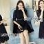 &#x1F380 Lady Ribbon's Made &#x1F380 Lady Christina Classic Feminine Pleated Black Dress thumbnail 5
