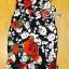 Sevy Forked Spade Flora Ribbon Shoulder Mini Dress thumbnail 6