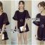 &#x1F380 Lady Ribbon's Made &#x1F380 Lady Courtney Casual Sunday Black Mini Playsuit with Belt thumbnail 3