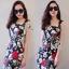Sevy Forked Spade Flora Ribbon Shoulder Mini Dress thumbnail 5