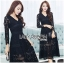 &#x1F380 Lady Ribbon's Made &#x1F380 Lady Amy Classic Black Lace Midi Dress thumbnail 2