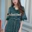 Seoul Secret Say's... Whiffle Rim Lace Murky Color Playsuit thumbnail 1