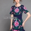 &#x1F380 Lady Ribbon's Made &#x1F380 Lady Daphne Colourful Flower Embroidered Ruffle Silk Dress thumbnail 5