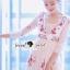 Seoul Secret Say's... Salmon Pink Blossom Summer Maxi Dress thumbnail 6