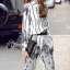 Cliona made' Black Hawks Sportswear Long Sleeves Top + Pant Set thumbnail 2