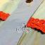 Sevy Soft Denim Blue Red Lace Waist Midi Dress thumbnail 9