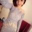 Cliona made'Imperial Soft Diamand Blue Luxury LAce Dress - Mini dress thumbnail 4