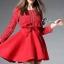 Cliona made'Luxury Lace Ribon Long Sleeves Dress - Mini dress thumbnail 2