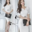 Cliona Made' Simplicity White + Fine Black Line Daily Dress thumbnail 4