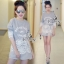 Sevy Alphabet Organza Lace Sweater Top thumbnail 3