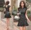 &#x1F380 Lady Ribbon's Made &#x1F380 Lady Anna Modern Sexy Graphic Lace Peplum Dress thumbnail 3