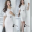 Cliona Made' Simplicity White + Fine Black Line Daily Dress thumbnail 1