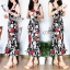 Sevy Forked Spade Flora Ribbon Shoulder Mini Dress thumbnail 1
