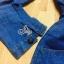 Sevy Long Sleeve Golden Peg Shirt Style Denim Mini Dress thumbnail 7