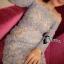 Cliona made'Imperial Soft Diamand Blue Luxury LAce Dress - Mini dress thumbnail 5