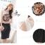 Sevy Tiger Head Printed Striped Skirt Ribbon Shoulder Midi Dress thumbnail 5
