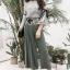 Seoul Secret Say's... Juniper Green Pants Bowwy Tie Bell Sleeve Set thumbnail 3