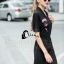 Cliona made' Amazing Kiss Luxury Jump Dress - Dressสีดำ ดีไซ Sport Girls thumbnail 1