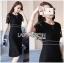 &#x1F380 Lady Ribbon's Made &#x1F380 Lady Jessica Classy & Modern Black Lace Dress with Pleated Trim thumbnail 1
