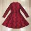 Cliona made'Red Sky 2 Tone Lace Luxury Dress - mini dress thumbnail 6