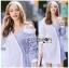🎀 Lady Ribbon's Made 🎀 Lady Liz Two-Tone Off-Shoulder Cotton Shirt Dress thumbnail 2
