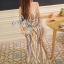 Sevy Elegant Golden Curve Line Gala Dress thumbnail 5