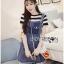 &#x1F380 Lady Ribbon's Made &#x1F380 Lady Lindsay Playful Street Style Denim Overall Dress thumbnail 5