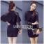 &#x1F380 Lady Ribbon's Made &#x1F380 Lady Jennifer Twisted Ruffle Lace and Crepe Mini Dress thumbnail 4