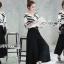 &#x1F380 Lady Ribbon's Made &#x1F380 Breton stripe & Kyros high waist pant with belt. thumbnail 3