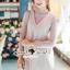 Seoul Secret Say's... Pastel Salmon Pink Girly Dress Outer Set thumbnail 5