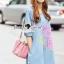 Seoul Secret Say's... Pastel Fink Paint Denim Dress thumbnail 4