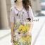 Seoul Secret Say's... Vintage Yellow Blossom Print Dress thumbnail 8