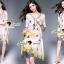 Seoul Secret Say's... Vintage Yellow Blossom Print Dress thumbnail 2