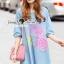 Seoul Secret Say's... Pastel Fink Paint Denim Dress thumbnail 2